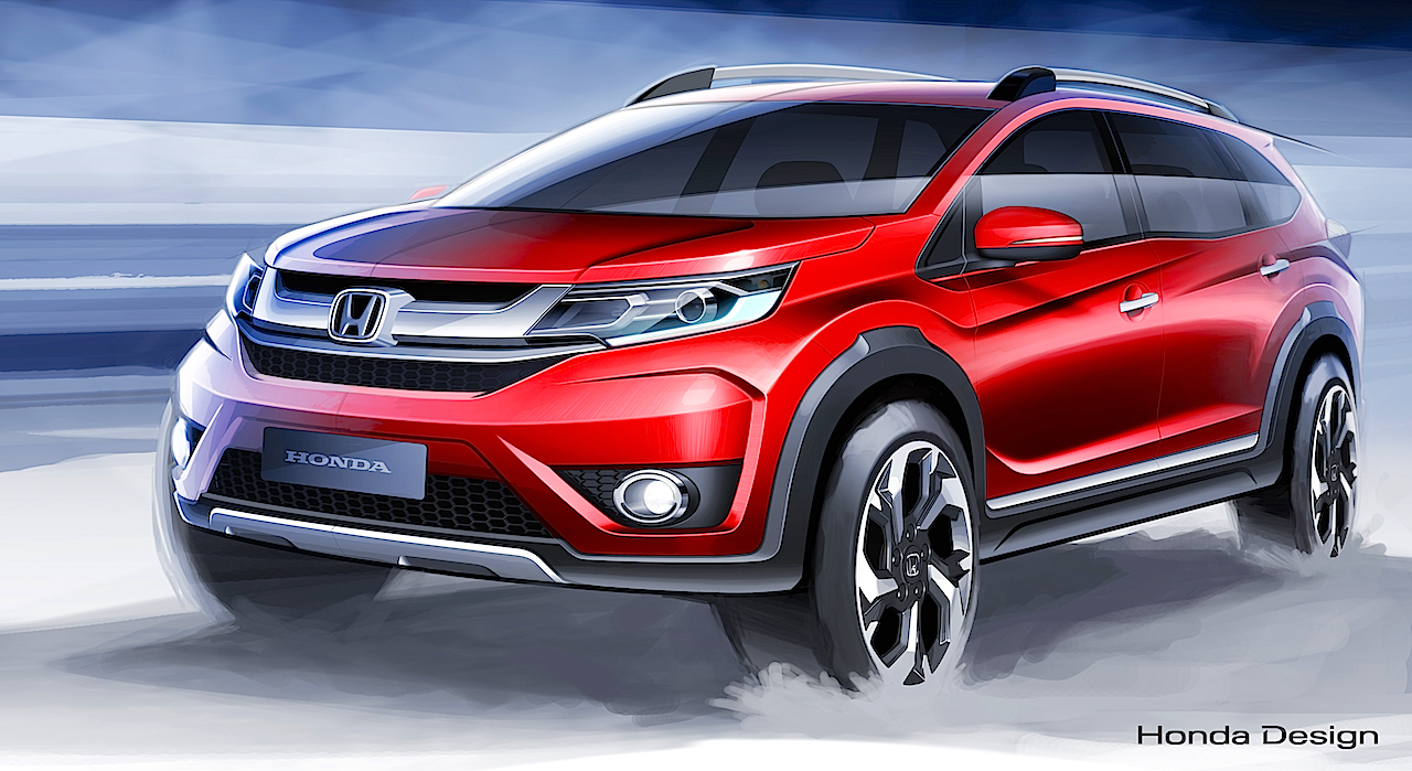 Honda BR V To Join Asian Market Lineup 2015 Indonesian Auto Show