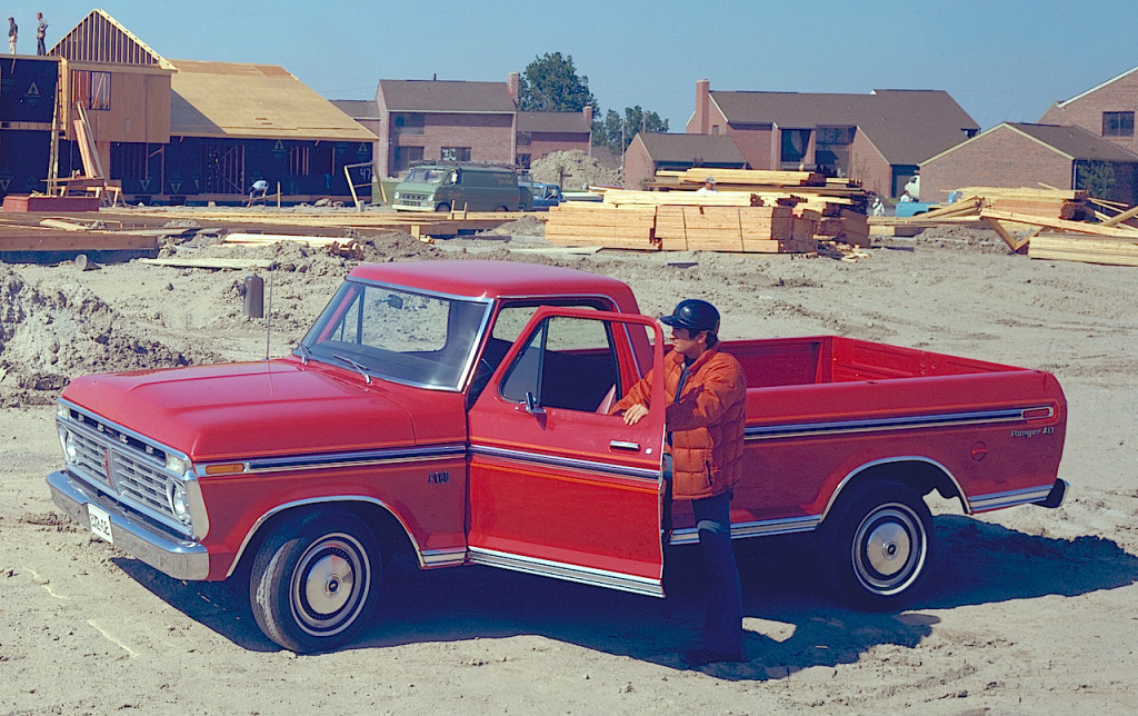 1975 Ford F-150 at Housing Construction Site