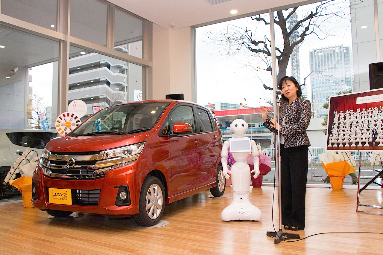 """Nissan Hires 100 Robots for its Dealers in Japan - """"Pepper ..."""