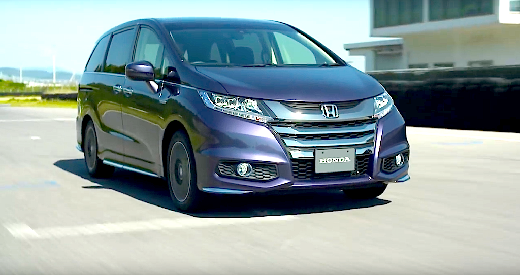 new car launches in japanCarNichiWa  Honda Launches Odyssey Hybrid  New Models Go On