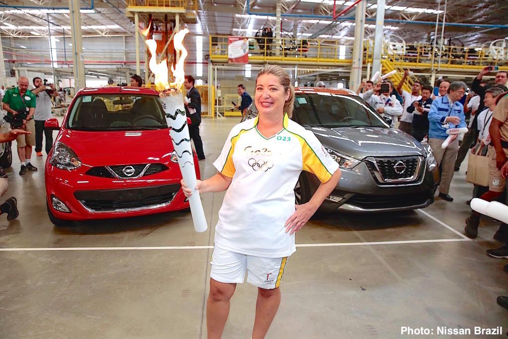 Tocha Olímpica Rio 2016 chega à fábrica da Nissan em Resende