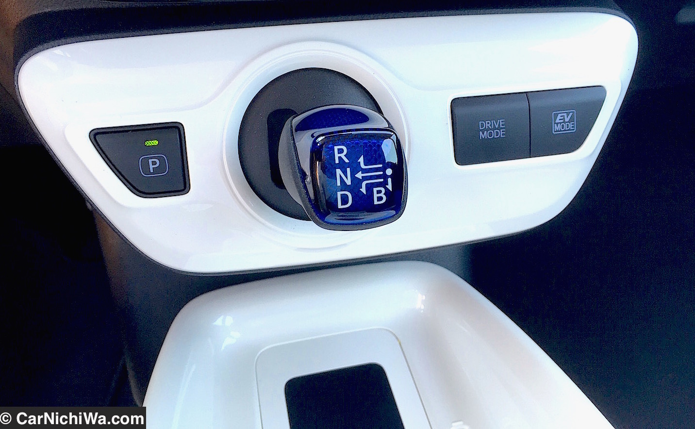 A Separate P On Above Left Operates The Electronically Controlled Parking Brake In Addition To Drive Mode Right