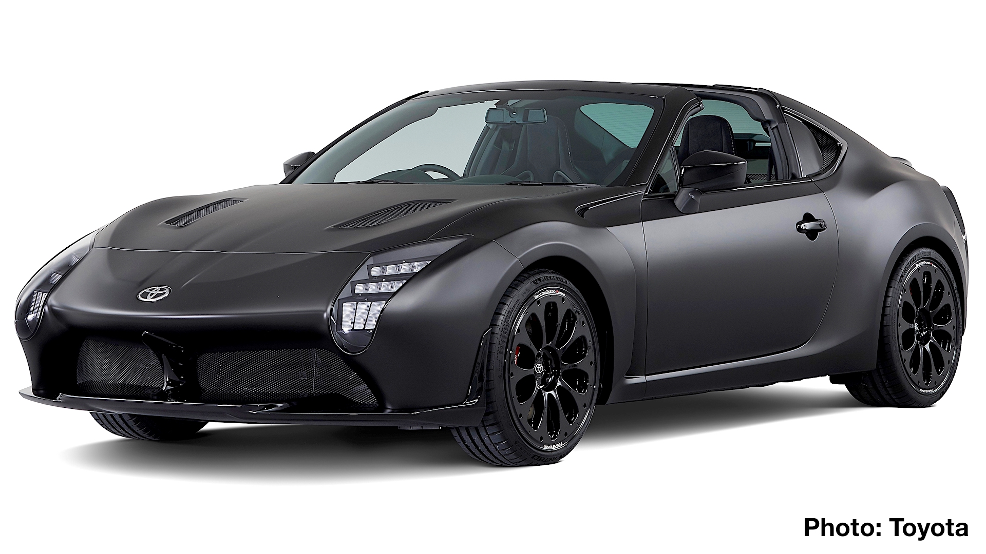 At First Glance The New Gr Hv Sports Looks Like A Larger Toyota 86 However This Rear Drive Two Seater Is Longer And Wider While Also Featuring Hybrid