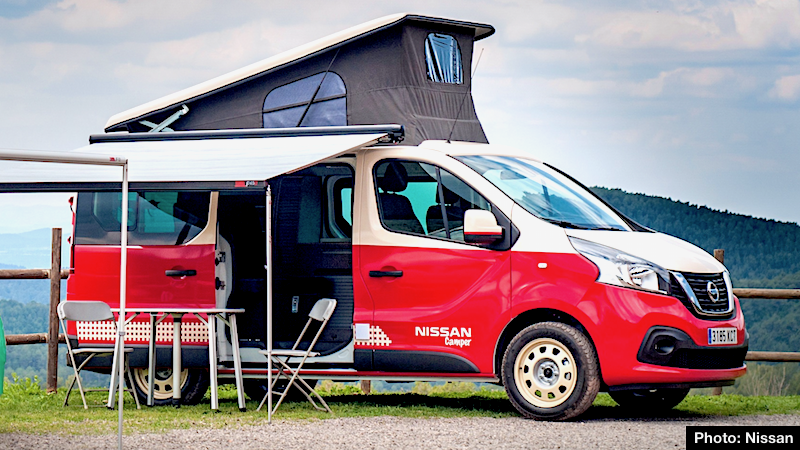 new nissan campers are vantastic nv300 nv200 and. Black Bedroom Furniture Sets. Home Design Ideas