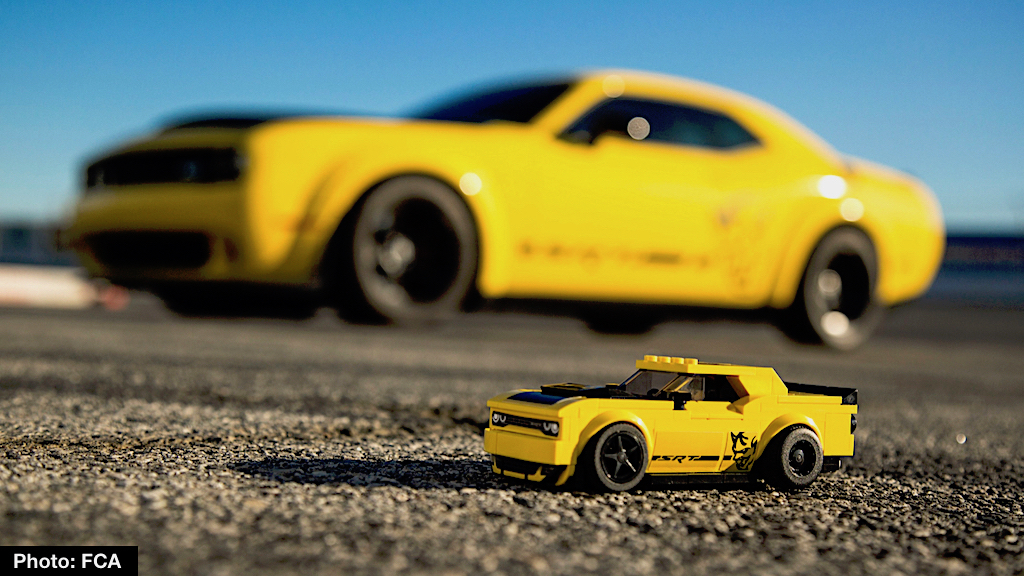Dodge And Lego Deliver Palm Sized Challenger Srt Demon New Speed