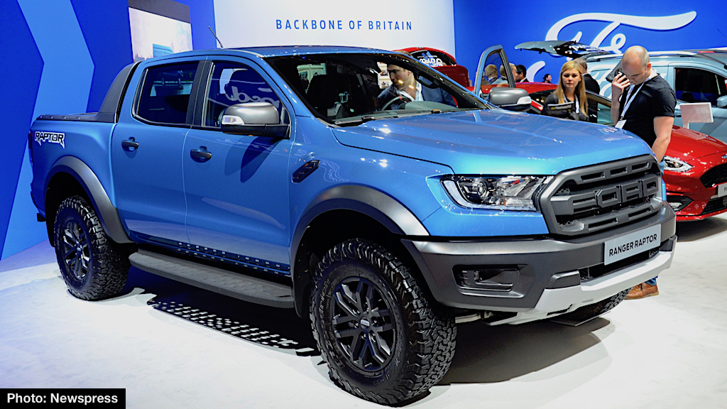 shown above and below at last week s commercial vehicle show in birmingham uk ranger raptor was developed by ford performance for thrill seeking outdoor